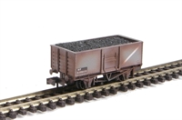 Peco Products NR-44BW Coal/mineral wagon - Butterley steel type in BR grey (weathered, with removable load)
