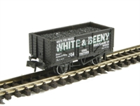Peco Products NR-P103 7-Plank coal wagon, White and Beeny No. 304