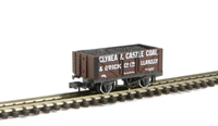Peco Products NR-P401a 7 plank wagon Glynea & Caslte Llanelli 178 with coal load