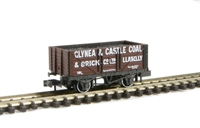 "Peco Products NR-P401b 7 plank wagon ""Glynea & Caslte Llanelli 191"" with coal load"