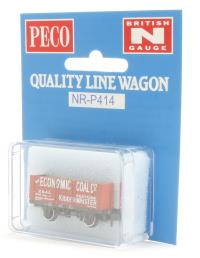 "Peco Products NR-P414 7-plank open coal wagon - ""The Economic Coal Co. Ltd. No. 3"""