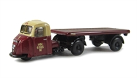 "Oxford Diecast NRAB006 Scammell Scarab Flat Trailer ""British Rail"""