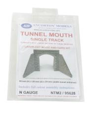 Ancorton Models NTM2 Tunnel mouth - single track with straight walls kit