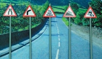 Ancorton Models NWS3 Modern Road Signs - Warning signs pack 3