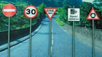 Ancorton Models OOATS1 Modern Road Signs - Traffic signs