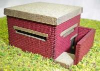 Ancorton Models OODP1 WWII Pill box kit (with underground entrance) (measures 40x30x22mm high)