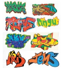 Ancorton Models OOMG1a Graffiti waterslide transfers pack 1