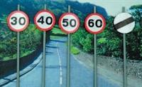Ancorton Models OOSL1 Modern Road Signs - Speed Limit signs