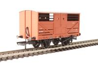 Oxford Rail OR76CAT001 10 ton Cattle wagon in BR bauxite