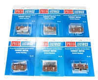 Peco Products PL-10 Bag of 6 Point Motor (Switch Machine)