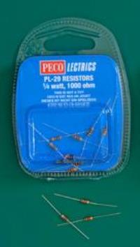 Peco Products PL-29 Resistors x 10 (for use with LEDs etc.)
