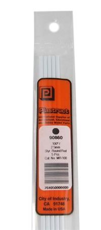 Plastruct MR-100 90860  2.5mm Rod Per 5