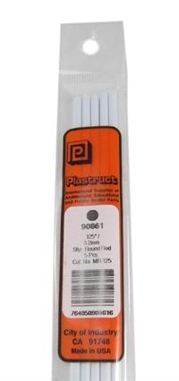 Plastruct MR-125 90861  3.2mm Rod Per 5