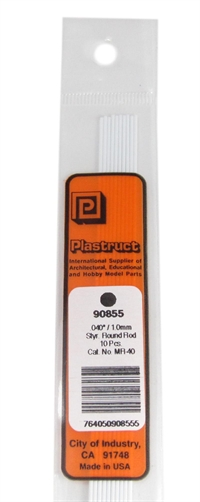 Plastruct MR-40 90855 1.0MM Rod Per 10