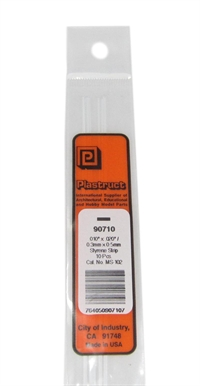 Plastruct MS-102 90710 0.3x0.5mm Styrene Strip x10