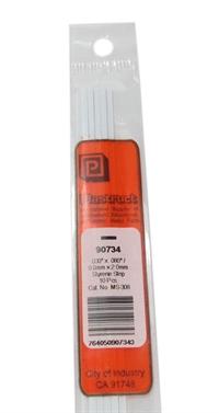 Plastruct MS-308 90734 0.8x2mm Styrene Strip x10
