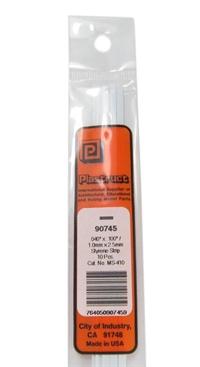 Plastruct MS-410 90745 1x2.5mm Styrene Strip x10