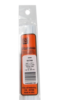 Plastruct MS-412 90746 1x3.2mm Styrene Strip x10