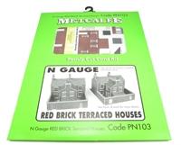 Metcalfe PN103 Red Brick Terraced Houses
