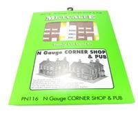 Metcalfe PN116 Corner Shops - Red Brick