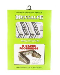 Metcalfe PN136 Covered footbridge - 124mm wide x 70-90mm long