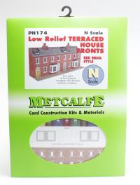 Metcalfe PN174 Low Relief Terraced House Fronts - red brick
