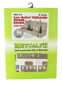 Metcalfe PN177 Low Relief Terraced House Backs - stone