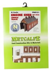 Metcalfe PN931 Single track engine shed - red brick