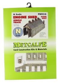 Metcalfe PN932 Single track engine shed - stone (130 x 47mm footprint)