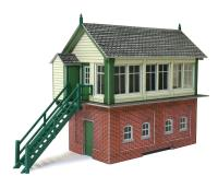 Metcalfe PO233 Signal box with lineside hut & fuel store shed (Card Kit)