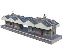 Metcalfe PO234 Pair of island station buildings (Card Kit)