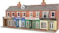 Metcalfe PO272 Terraced shop fronts - brick - 128 (w) x 73 (d) mm