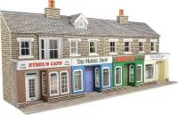 Metcalfe PO273 Terraced shop fronts - stone - 128 (w) x 73 (d) mm