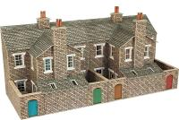 Metcalfe PO277 Low relief terrace house backs - stone