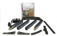 Hornby R1071 Eurostar Complete Train Set with power car, dummy, 2 coaches & track