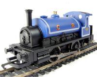 Hornby R2672 Caledonian Railway 0-4-0 steam locomotive in blue. Railroad range