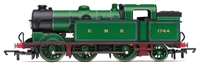 Hornby R3187 Class N2 0-6-2T 1744 in GNR green (as preserved at the Great Central Railway)