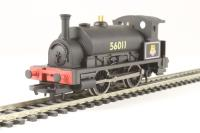 Hornby R3292 Class 0F Pug 0-4-0ST 56011 in BR black  - Hornby 2014 Collectors Club special edition