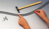 Hornby R621 Pack of 24 Single 970mm length of flexible track