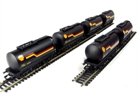 Hornby R6371 Pack of 6 Petrol tanker wagon in Shell black