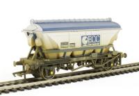 Hornby R6648 CDA china clay hopper in ECC silver and blue - weathered