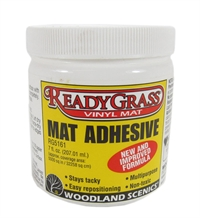 Woodland Scenics RG5161 Mat Adhesive - 7 fl oz - For pernamently bonding scenic mats to any clean, smooth surface