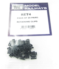 Dapol RET4 20 pairs retaining couplings x 40 parts for use with CONV4 pockets and COUP4 couplings