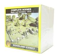 Woodland Scenics S131 Maple Leaf Cemetery Complete Scene
