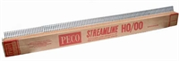 Peco Products SL-100 Pack of 25 1 yard (91.5cm) length of Code 100 Wooden-sleeper nickel silver flexible track