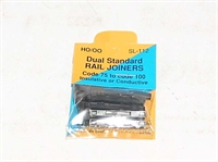 Peco Products SL-112 Converter rail joiners/fishplates code 75 to 100 for OO & HO gauge - Pack of 12