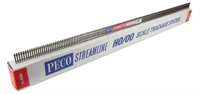 Peco Products SL-8300 Box of 25 1 yard flexible wooden sleeper rail (nickel silver)