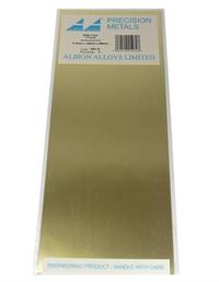 Albion Alloys SM1M Brass Sheet 0.12 x 100 x 250mm (x2)