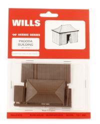 Wills Kits SS35 Pagoda building - iron type hut
