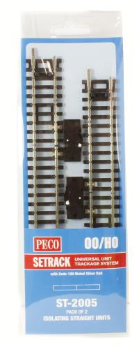 Peco Products ST-2005 Isolating Straight Track (ST-205 x 2)